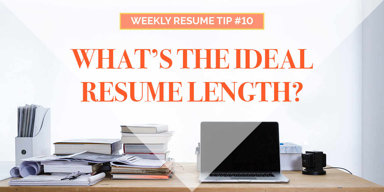 ideal resume length image - Ideal Resume Length